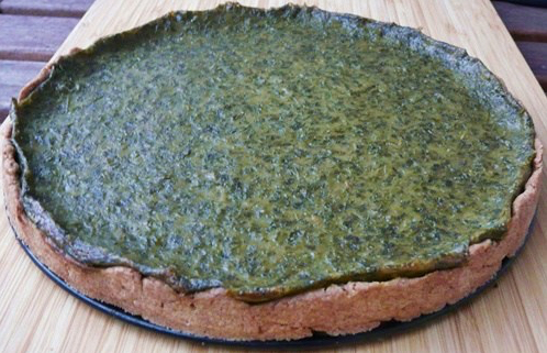 Quiche mit Grüner Soße-Füllung - vegan!