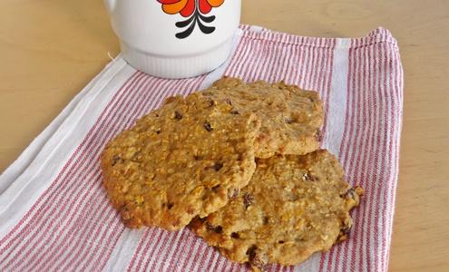 Möhren-Haferflocken-Cookies: Kekse mit Haferflocken, Karotten, Rosinen, Zimt Apfelmus - ohne raffinierten Zucker